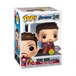 Figurine Pop! Phosphorescent Marvel Endgame I Am Iron Man Edition Limitée Funko Boutique en Ligne Suisse