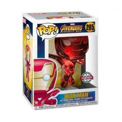 Figurine Pop! Marvel Avengers Infinity War Iron Man Flying Rouge Chrome Edition Limitée Funko Boutique en Ligne Suisse