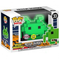 Figur Pop! Glow in the Dark Space Invaders Medium Invader Green 8-Bit Limited Edition Funko Online Shop Switzerland