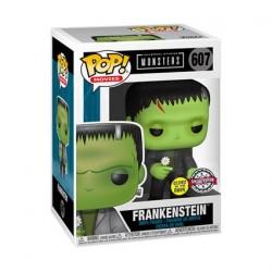 Figurine Pop! Phosphorescent Universal Monsters Frankenstein avec Fleur Edition Limitée Funko Boutique en Ligne Suisse