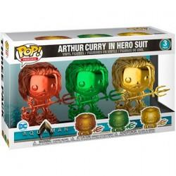 Figurine Pop! Chrome DC Aquaman Arthur Curry en Costume de Héro 3 pack Edition Limitée Funko Boutique en Ligne Suisse
