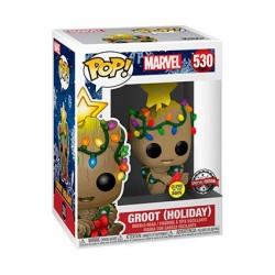 Figurine Pop! Phosphorescent Marvel Les Gardiens de la Galaxie 2 Groot Christmas Holiday Edition Limitée Funko Boutique en Li...