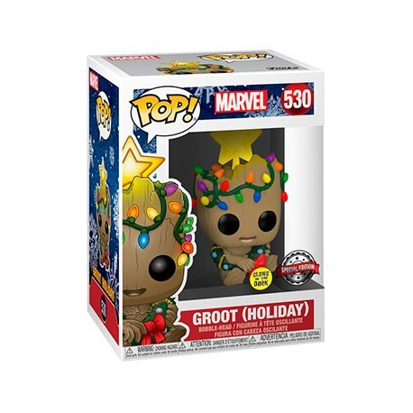 Figur Pop! Glow in the Dark Guardians of the Galaxy Vol. 2 Groot Christmas Holiday Limited Edition Funko Online Shop Switzerland