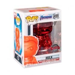Figurine Pop! Marvel Endgame Hulk Rouge Chrome Edition Limitée Funko Boutique en Ligne Suisse