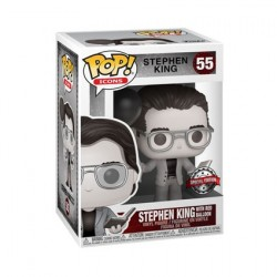 Pop! Stephen King with Red Balloon Black and White Limited Edition