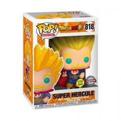 Figurine Pop! Phosphorescent Dragon Ball Super Super Saiyan Hercule Edition Limitée Funko Boutique en Ligne Suisse