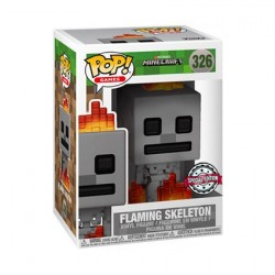 Pop! Games Minecraft Skeleton with Fire Limited Edition