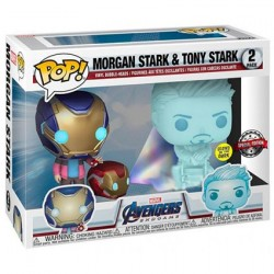 Pop! Glow in the Dark Marvel Avengers Morgan and Hologram Tony Limited Edition