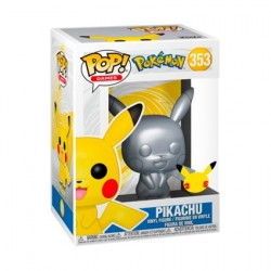 Figurine Pop! Métallique Pokemon Silver Pikachu 25ème Anniversaire Edition Limitée Funko Boutique en Ligne Suisse