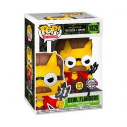 Figurine Pop! Phosphorescent Les Simpsons Devil Flanders Edition Limitée Funko Boutique en Ligne Suisse