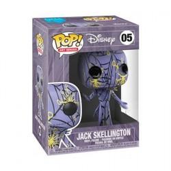 Figurine Pop! L'Étrange Noël de Mr Jack Jack Artist Serie Purple & Yellow dans Boîte de Protection Acrylique Edition Limitée ...