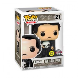 Pop! Glow in the Dark Edgar Allan Poe with Skull Limited Edition