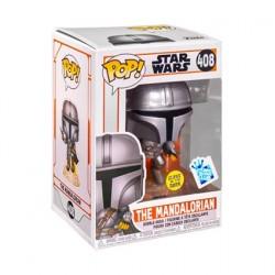 Figurine Pop! Phosphorescent Star Wars The Mandalorian Flying Edition Limitée Funko Boutique en Ligne Suisse
