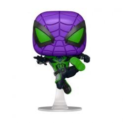 Figurine Pop! Métallique Marvel Games Spider-Man Miles Morales Purple Reign Suit Edition Limitée Funko Boutique en Ligne Suisse
