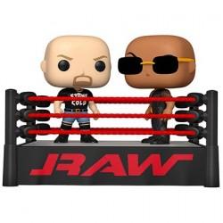 Figurine Pop! WWE The Rock vs Stone Cold in Wrestling Ring Funko Boutique en Ligne Suisse
