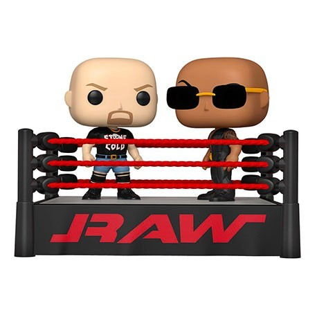 Figur Pop! WWE The Rock vs Stone Cold in Wrestling Ring Funko Online Shop Switzerland