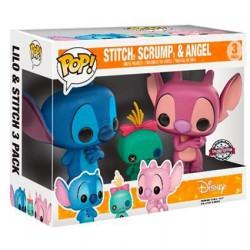 Figurine Pop! Disney Lilo et Stitch - Stitch, Scrump et Angel 3-Pack Edition Limitée Funko Boutique en Ligne Suisse
