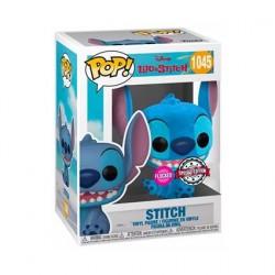 Figurine Pop! Floqué Disney Lilo et Stitch - Stitch Assis Souriant Edition Limitée Funko Boutique en Ligne Suisse