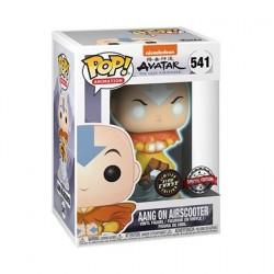 Figurine Pop! Phosphorescent Avatar The Last Airbender Aang on Bubble Chase Edition Limitée Funko Boutique en Ligne Suisse