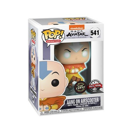 Figur Pop! Glow in the Dark Avatar The Last Airbender Aang on Bubble Chase Limited Edition Funko Online Shop Switzerland