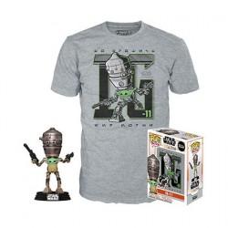Figurine Pop! et T-shirt Star Wars Le Mandalorian IG-11 avec l'Enfant (Grogu) Edition Limitée Funko Boutique en Ligne Suisse