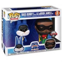 Figurine BOITE ENDOMMAGÉE Pop! Space Jam 2 A New Legacy Bugs Bunny as Batman & LeBron James as Robin 2-Pack Edition Limitée F...