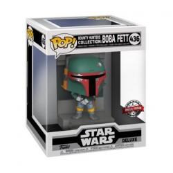 Figurine Pop! Deluxe Métallique Star Wars Episode V Boba Fett Bounty Hunters Edition Limitée Funko Boutique en Ligne Suisse