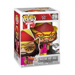 Figurine BOITE ENDOMMAGÉE Pop! Diamond Glitter WWE NWSS Macho Man Randy Savage Edition Limitée Funko Boutique en Ligne Suisse