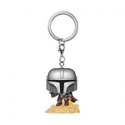 Figurine Pop! Pocket Porte-clés Star Wars The Mandalorian avec Blaster Funko Boutique en Ligne Suisse