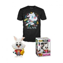 Pop! Flocked and T-shirt Alice in Wonderland White Rabbit Limited Edition