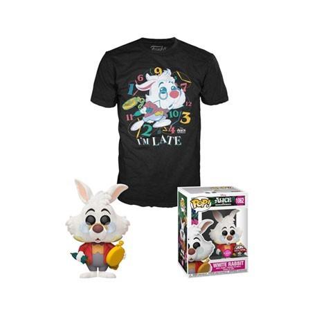 Figur Pop! Flocked and T-shirt Alice in Wonderland White Rabbit Limited Edition Funko Online Shop Switzerland