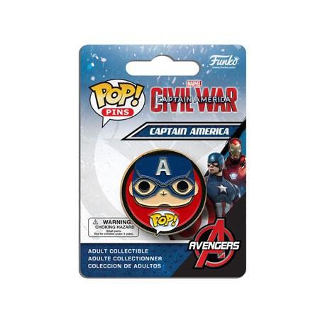 Figurine Funko Pop Pins Captain America Funko Boutique en Ligne Suisse