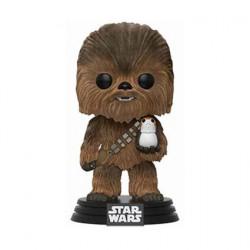 Figurine Pop! Star Wars Flocked Chewbacca with Porg Limited Edition Funko Boutique en Ligne Suisse