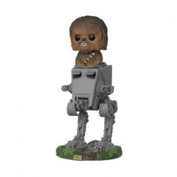 Figurine Pop! Star Wars The last Jedi Chewbacca in AT-ST Funko Boutique en Ligne Suisse