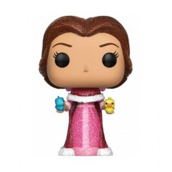 Pop! Diamond Disney Beauty and The Beast Glitter Belle with Birds Limited Edition