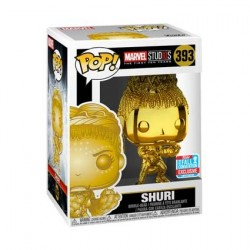 Figur Pop! NYCC 2018 Marvel Studios The First Ten Years Shuri Gold Chrome Limited Edition Funko Online Shop Switzerland