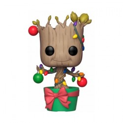 Figurine Pop! Marvel Holiday Groot with Lights and Ornaments Funko Boutique en Ligne Suisse